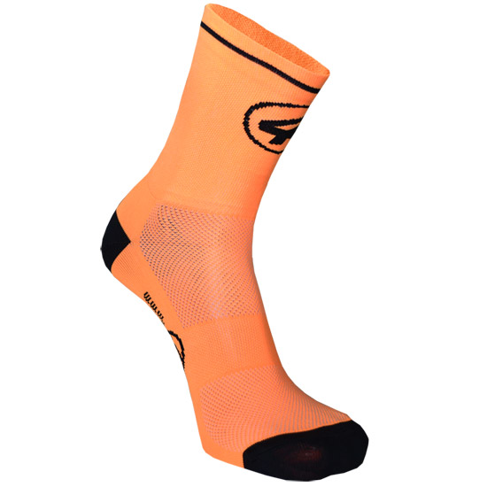 All4cycling Chaussettes 12cm - Orange Fluo