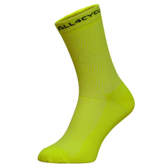 All4cycling Chaussettes 15 cm - Jaunes fluo