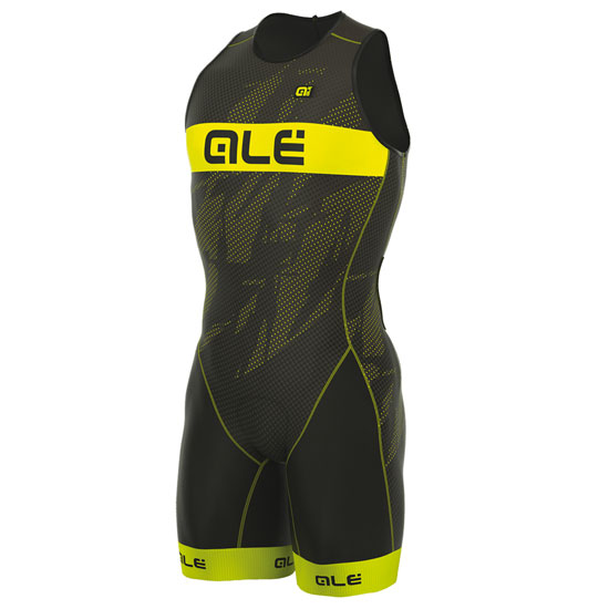 Body Ale Tri Record Zip Back - Jaunes Fluo
