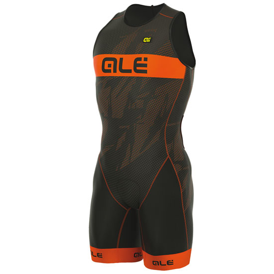 Body Ale Tri Record Zip Back - Orange Fluo