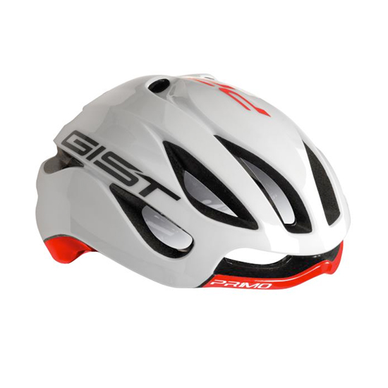 Casque Gist Primo - Blanc rouge