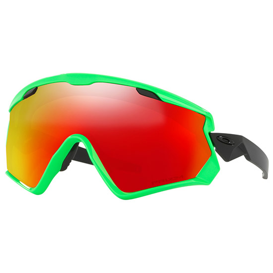 Lunettes Oakley Wind Jacket 2.0 - 80s Green Prizm Snow Torch Iridium