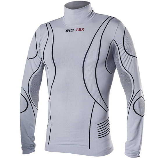 Maillot de corps M/L Biotex Turtleneck Hightech - Gris