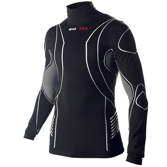 Maillot de corps M/L Biotex Turtleneck Hightech - Noir