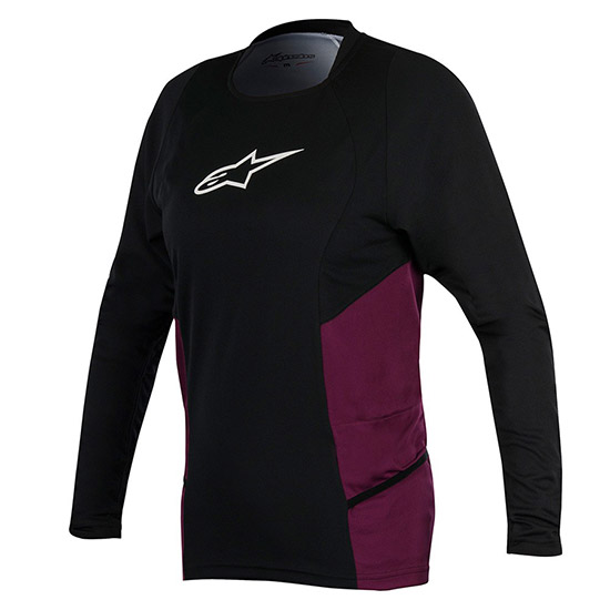 Maillot ML Alpinestars Drop 2 - Noir Pourpre