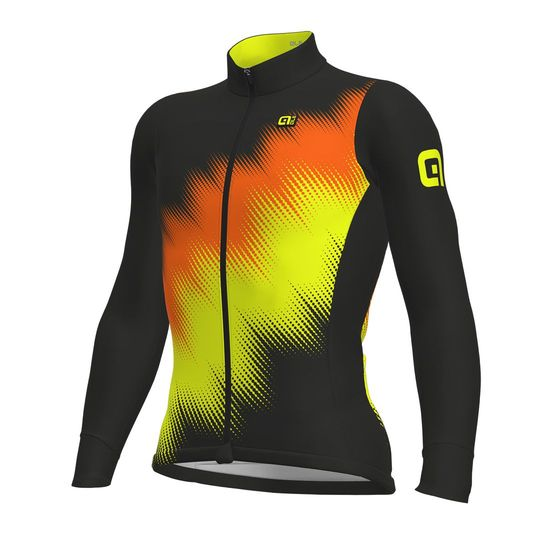 Maillot manches longues Ale Solid Pulse - Orange jaunes