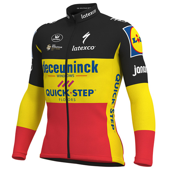 Maillot manches longues Deceuninck Quick Step 2019 - Champion Belge