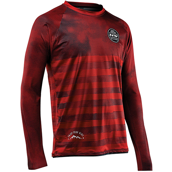 Maillot manches longues Northwave Enduro - Rouge