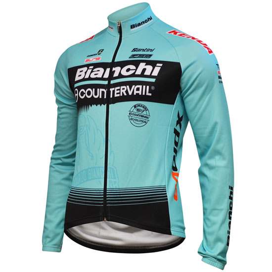 Maillots manches longues Bianchi Countervail 2018
