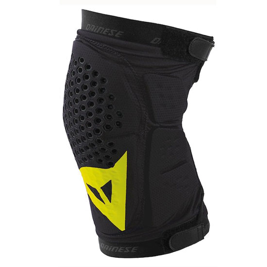 Protections genoux Dainese Trail Skins - Noir Jaune fluo